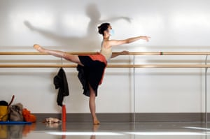 A dancer at the barre