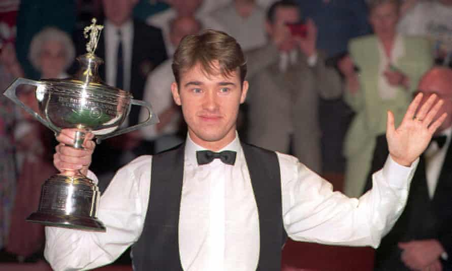Stephen Hendry after beating Jimmy White 18-17 to win his fourth world crown in 1994. 'I really had to force a smile because winning was my job.'