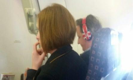 David Cameron en route to Lanzarote.