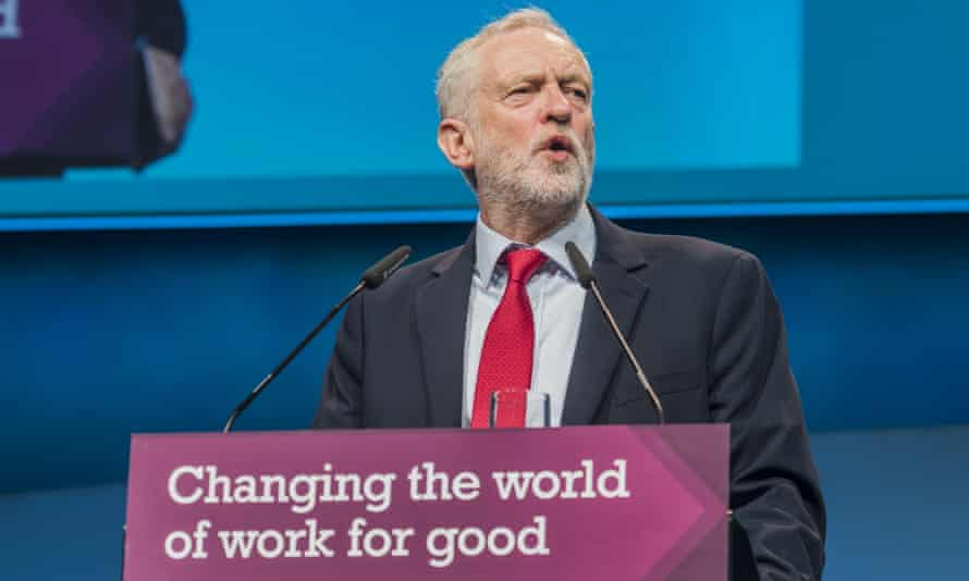 Labour leader Jeremy Corbyn, addressing last year's TUC conference, has not backed calls for a second Brexit vote.