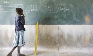 A pupil at a school in Burkina Faso.