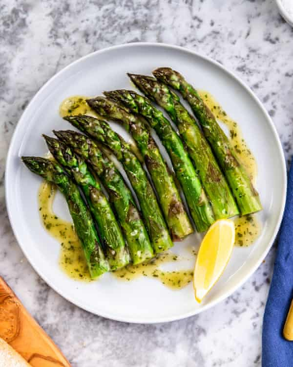 'A generous portion of for £4.95': roasted asparagus.