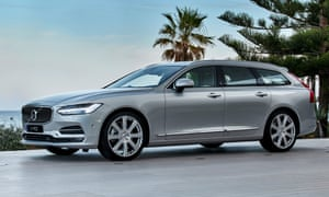 Silver streak: the long, lean lines of the Volvo V90
