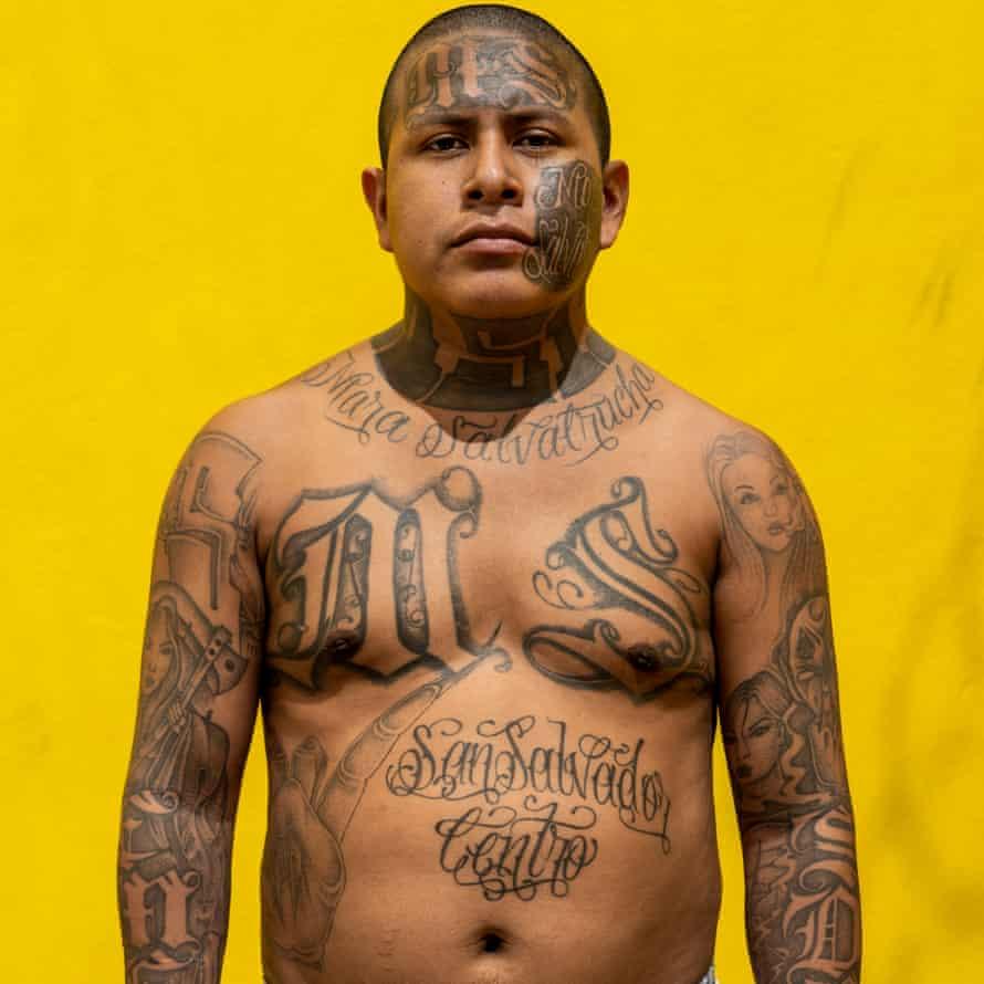 El Salvador – A Nation Held HostageOscar, 27, stands for a portrait at the Chalatenango penal centre