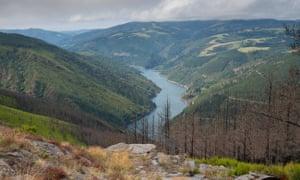 """Water reservoir close to Grandas de Salime, Camino de Santiago trail."""