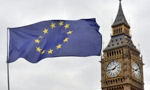 an EU flag and Big Ben