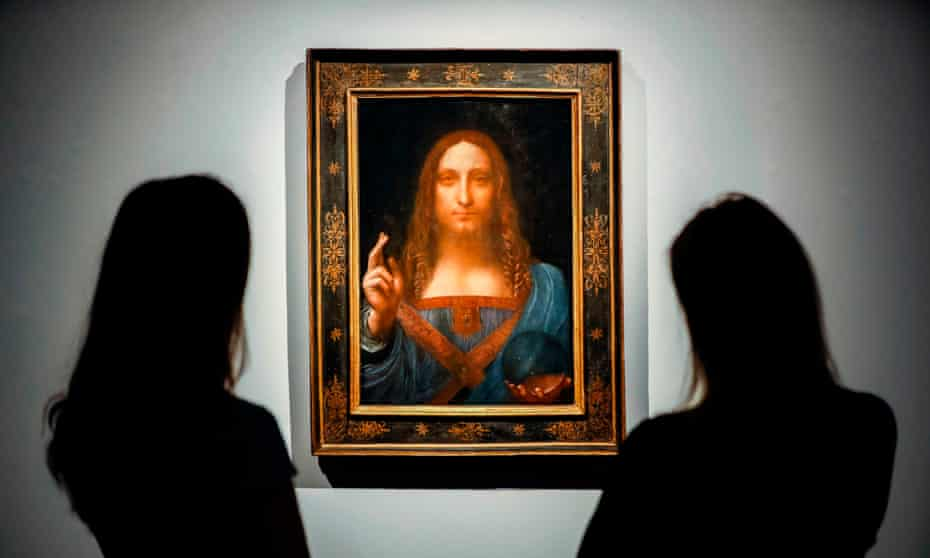 The Salvator Mundi, which sold for $450m in 2017.