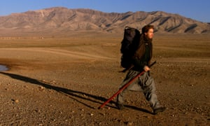 Rory Stewart walking in Afghanistan aged 29, an experience he described in the book The Places In Between.