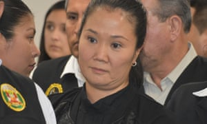 Keiko Fujimori stands in a Peru court to hear a that she should be detained as a preventative measure.