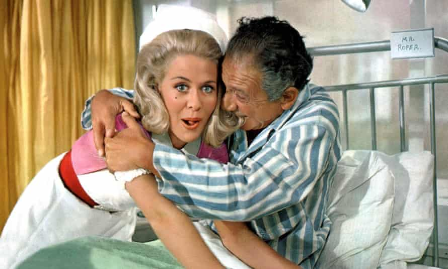 Valerie Van Ost and Sid James in Carry on Doctor.