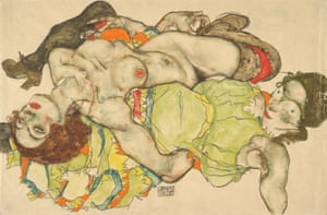 'You could see his anguish' … Two Girls, Lying Entwined (1915) by Egon Schiele.
