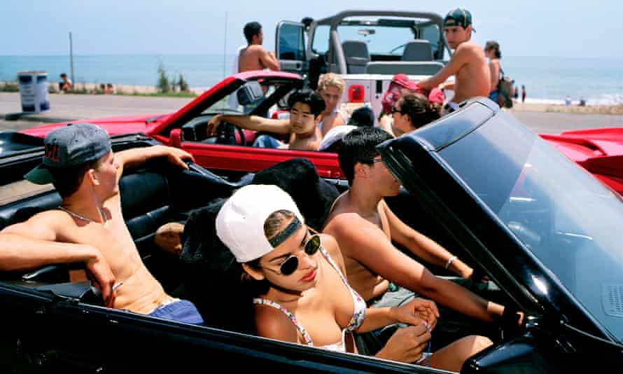 Mijanou, in the front passenger seat, one of the subjects of Generation Wealth.