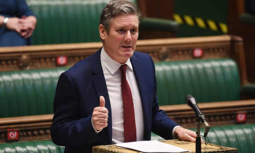 Keir Starmer during Prime Minister's Questions in the House of Commons in London on 24 February.