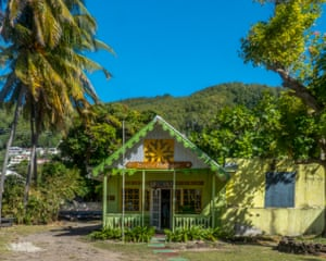 Tiny bookshop on the island of Bequia