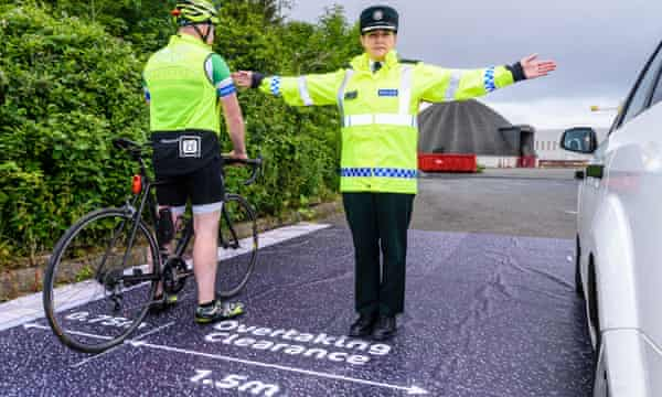 PSNI and Cycling Ulster launched a campaign on the same issue in Belfast, Northern Ireland, last month.
