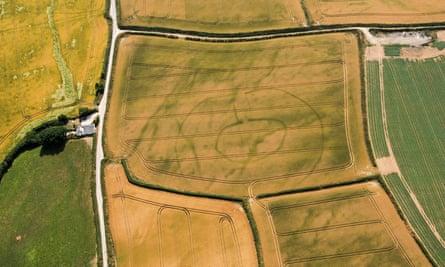 Prehistoric settlement in Lansallos, Cornwall.