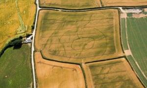 Prehistoric settlement, Lansallos, Cornwall