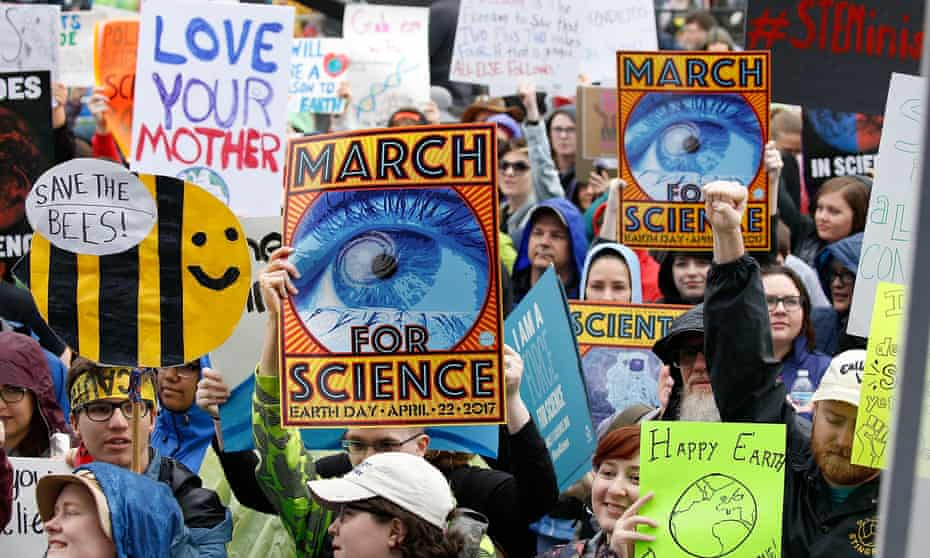 Appealing to sentiment … the 2017 March for Science in Washington, DC.