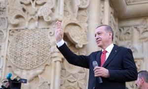 Recep Tayyip Erdoğan 'legitimises autocracy with historical myths'.