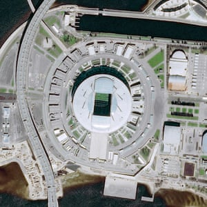 The Krestovsky Stadium in St Peterburg