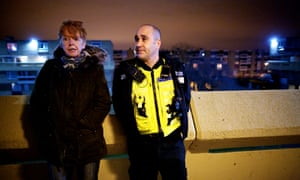 Northumbria PC Chris Dymond with police and crime commissioner Vera Baird