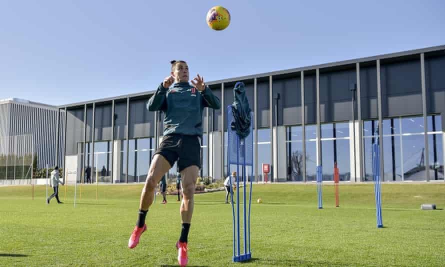 Cristiano Ronaldo at Juventus' training centre in February.