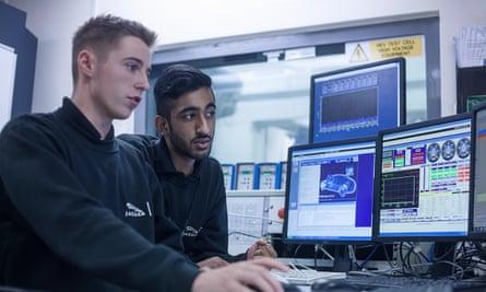 Apprentices at Jaguar Land Rover