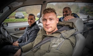 Top Gear presenters Paddy McGuinness, Freddie Flintoff and Chris Harris.