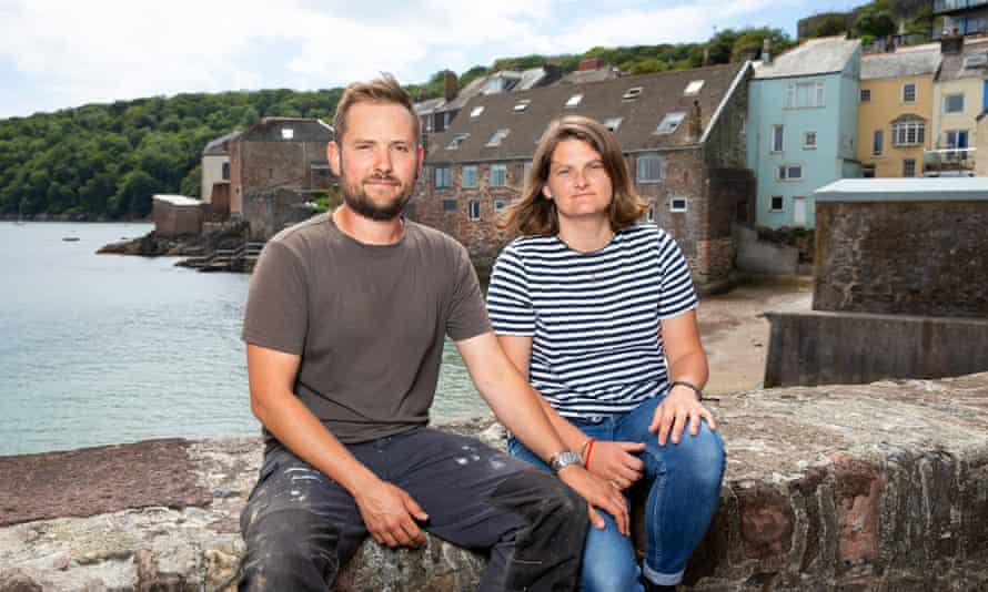 Jenny Fox and her fiancé Joe Chapman in Kingsand, Cornwall
