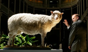 Sir Ian Wilmut with Dolly the sheep in 2003