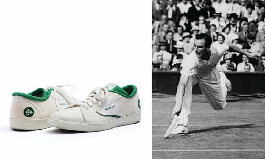 Fred Perry winning Wimbledon in 1936, and his Dunlop Green Flashes.