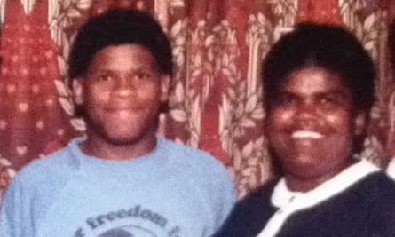 Gary Younge, aged 17, with his mother.
