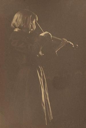 Standing Girl with Violin, 1896–98. Gertrude Käsebier (US, 1852–1934), platinum print