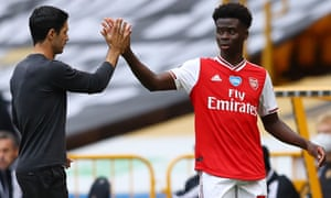 Mikel Arteta's advice to the 18-year-old Bukayo Saka is to savour being in the spotlight but be ready for the downside.