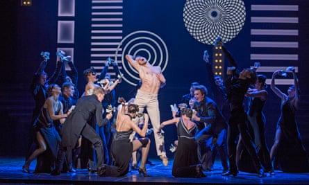 Oleg Gabyshev (centre) in Up & Down by Eifman Ballet at the Coliseum.