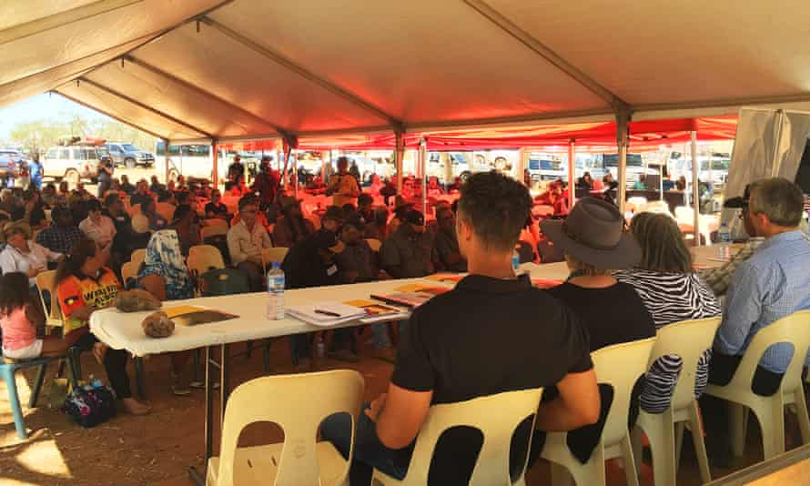 About 300 people from as far away as Perth, 1600km south, and Broome, 700km north, attended the Yule River bush meeting near Port Hedland in Australia on Friday 25 September 2015