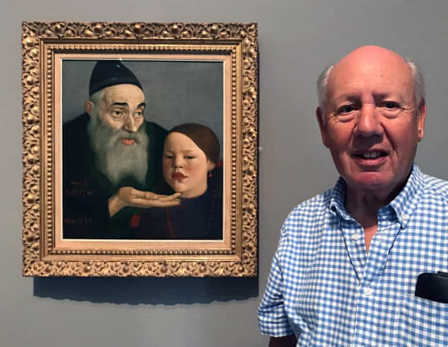 Raymond Silver with Mark Gertler's The Rabbi and His Grandchild.
