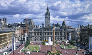 The centre of Glasgow.