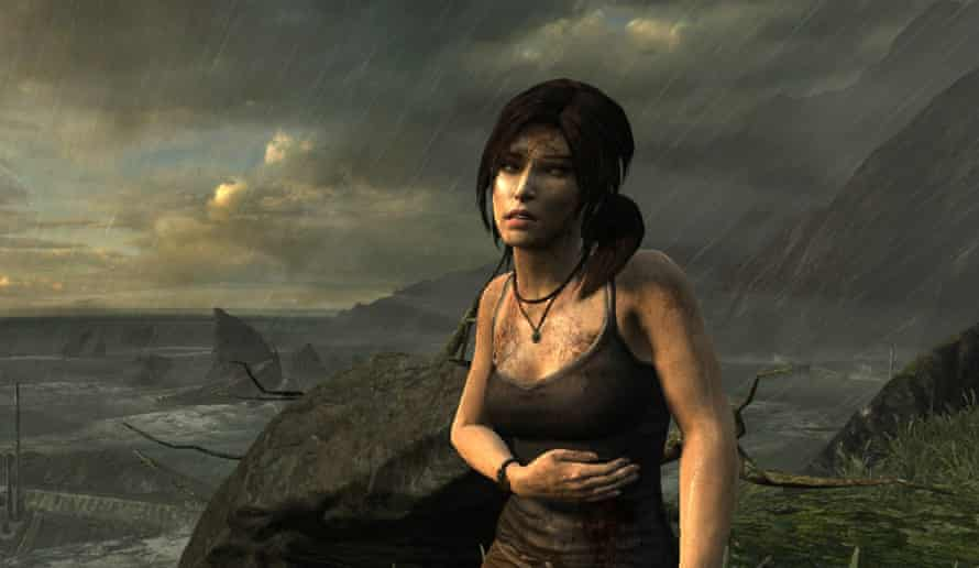 Vulnerability … the rebooted 2013 game incarnation of Lara Croft.