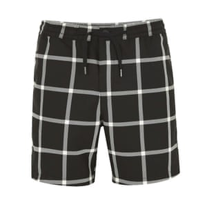 black and white checked shorts Topman