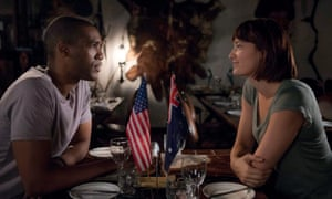 A still from the six-part TV show Pine Gap, featuring Parker Sawyers and Tess Haubrich