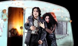 Bewildered … Najmiddin Mavlyanov and Anita Rachvelishvili in Il Trovatore.