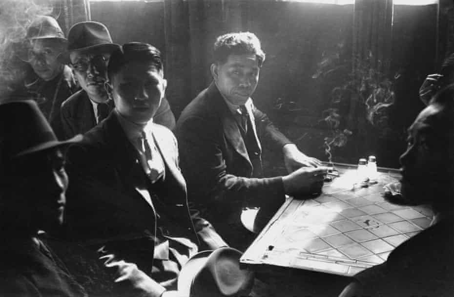 Chinese seamen at a hostel in Liverpool, 1942.