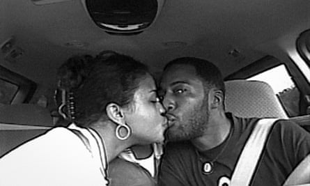 Pivotal moment … Sibil Fox Rich and husband Robert share a kiss in the limo.