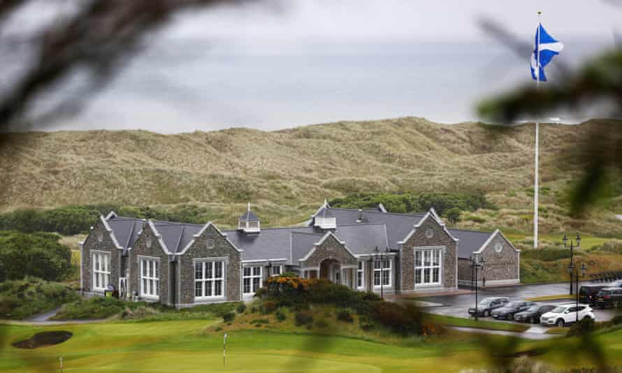 The club house and course of Donald Trump's Menie golf course.