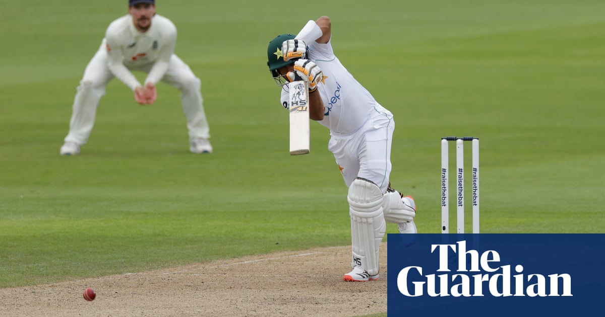 Babar Azam shines between showers as Pakistan make solid start in first Test
