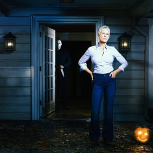 Jamie Lee Curtis in a publicity still for Halloween