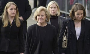 John Smith's wife Elizabeth and daughters Catherine, Jane and Sarah at Donald Dewar's funeral in Glasgow in 2000.