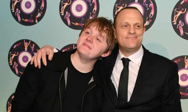 Ted Cockle with Lewis Capaldi.