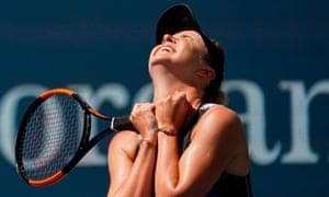 Elina Svitolina of Ukraine celebrates her victory